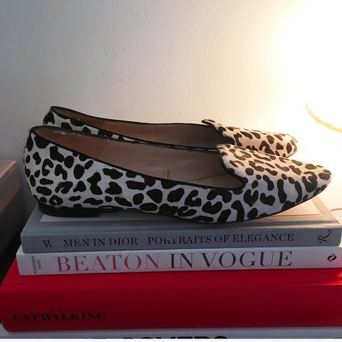 1e7ddfde1 @lastgoodbuy. last year. Cambridge, United Kingdom. Zara leopard print  pumps ballet flats ...