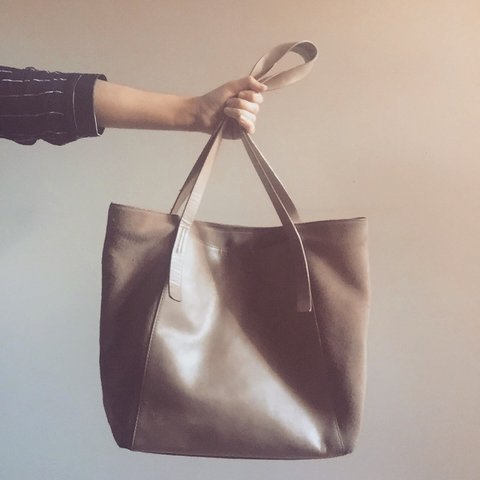 86a2840dbd @gfcalderone. 2 years ago. Derby, UK. Zara large shopper bag. Nude colour  in faux leather ...