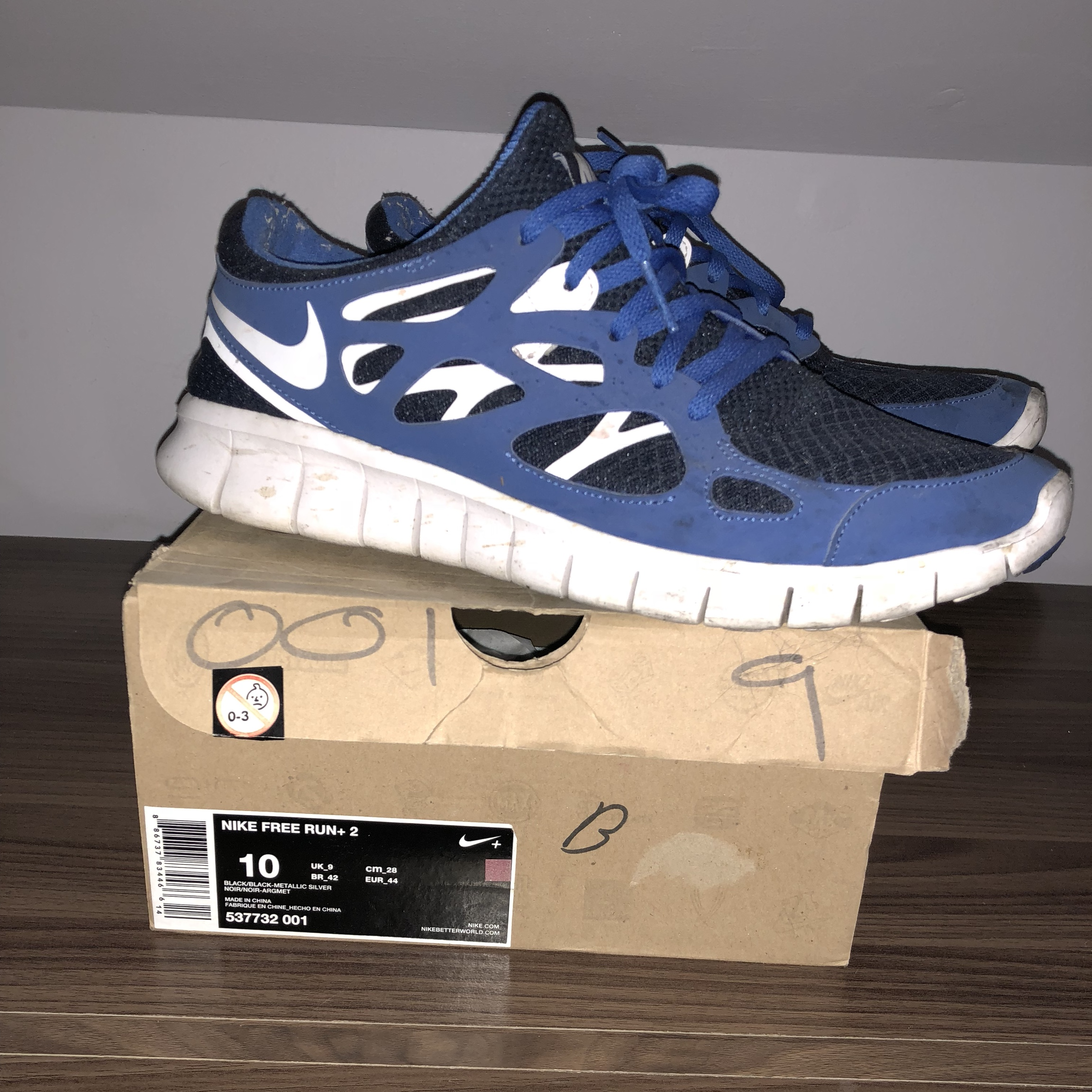 uk 9 Nike free 2blue white size run Depop 34Lq5RAj