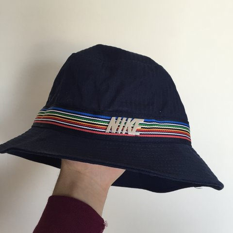 40ac463262 Nike rainbow bucket hat. 10 10 condition🙌🏼 - Depop