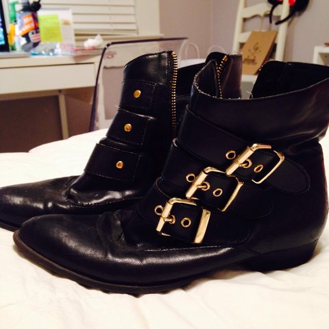 a11199ceda9 Dolce Vita for Target Buckle Boots in a size 6. Worn often  - Depop