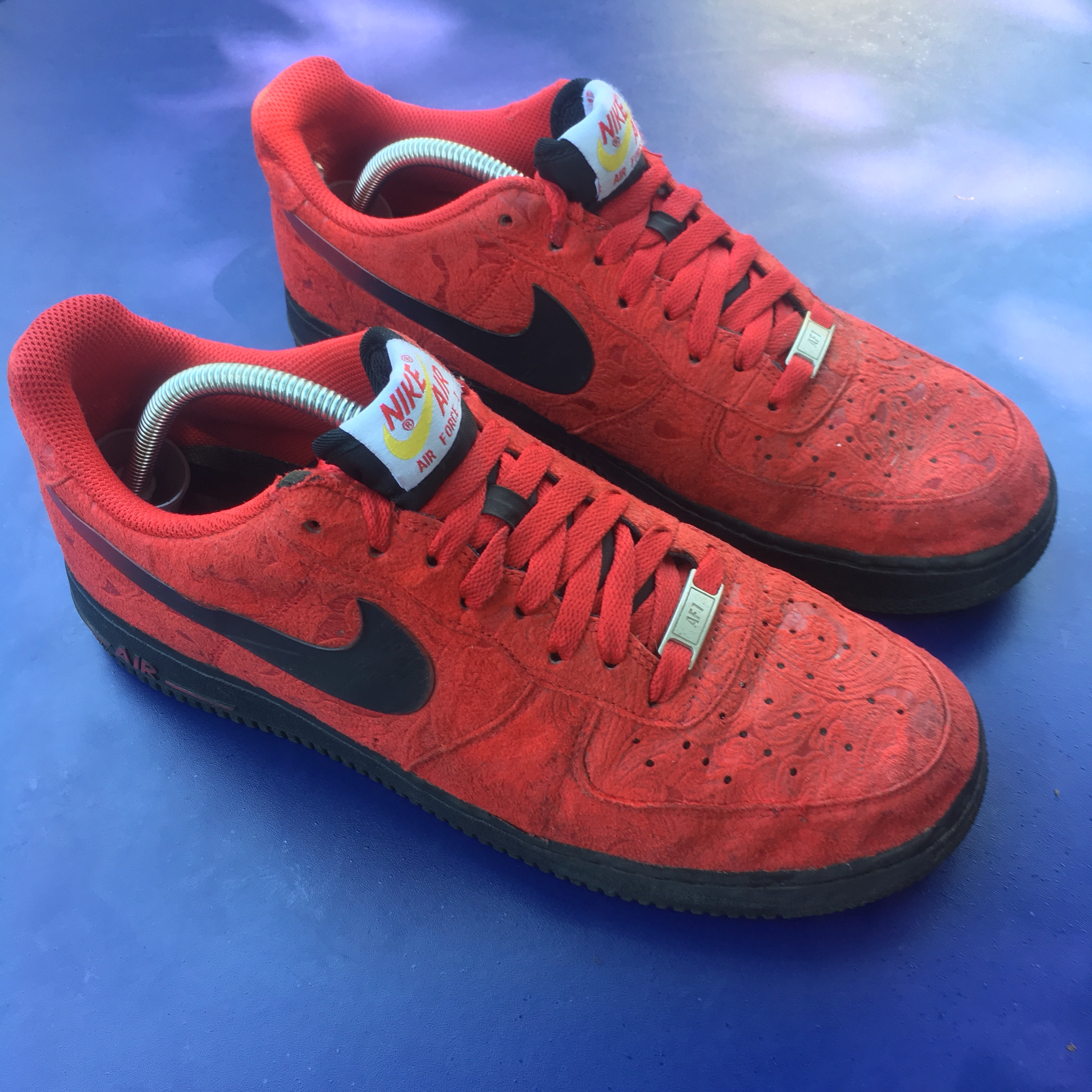 NIKE Air Force 1 Miami Heat Men's 9 Red sneakers NWT