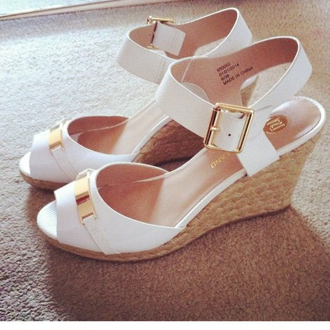 020704dc50fc River island wedges size 6 £7 worn see photos - Depop