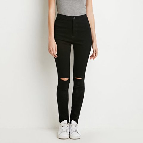 bd247bd9c7f @joycescloset. 4 years ago. San Diego, United States. Forever 21 high rise black  skinny jeans ...