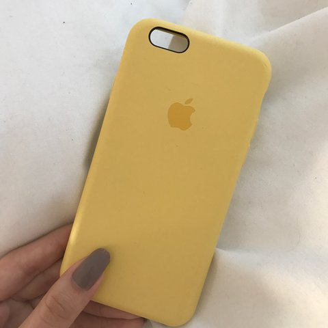 2c267d2948e iPhone 6 yellow silicone case by Apple. Used... - Depop