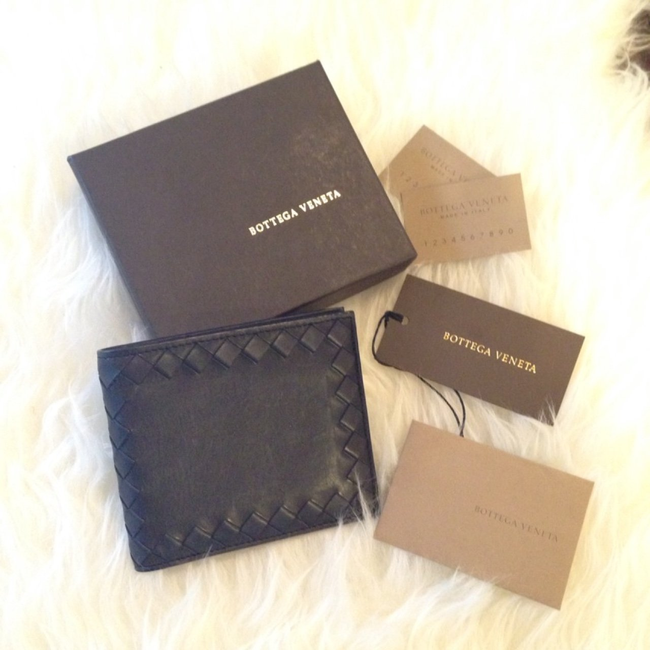 545f63a400c7 Rare Intrecciato Bifold Leather Wallet. It still has the but - Depop