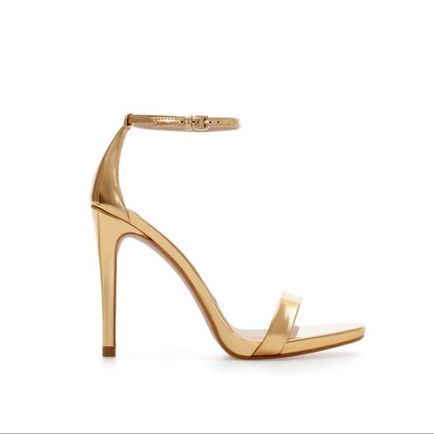 4cf4c609a61 Selling these Zara Gold Strappy heels in size UK 5 EU 38. me - Depop
