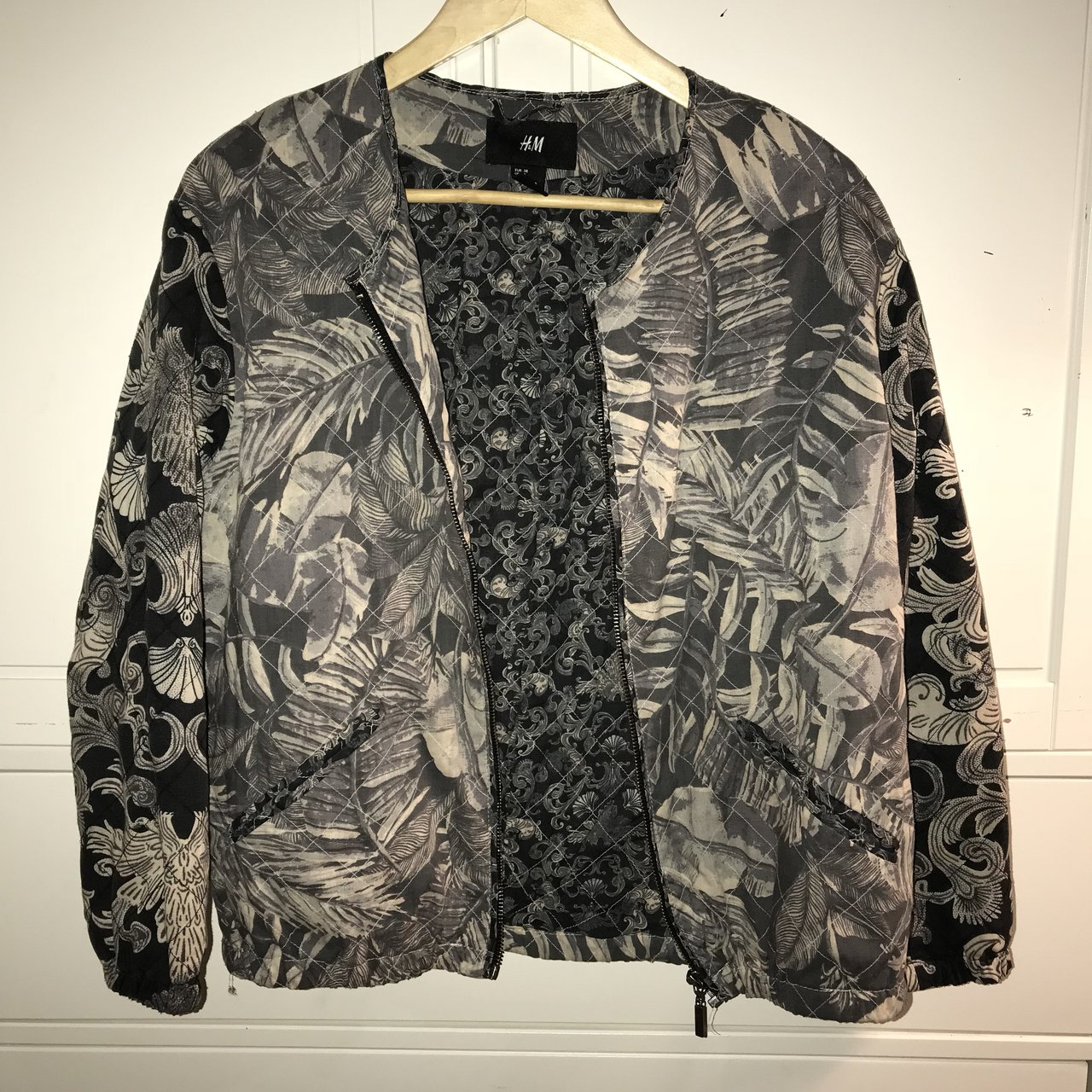 49144a121fc29 H M funky pattern bomber jacket Great