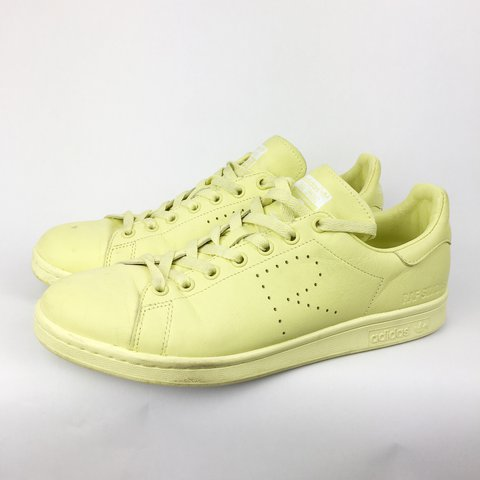 276283ae7d6161 Adidas x RAF SIMONS Stan Smith Yellow 🚕 Labelled Men s UK - Depop