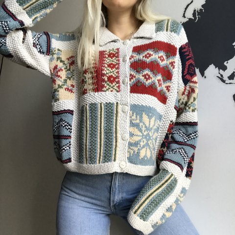 b2bc67b31 Amazing Unique Vintage 90s Handmade retro jumper sweater