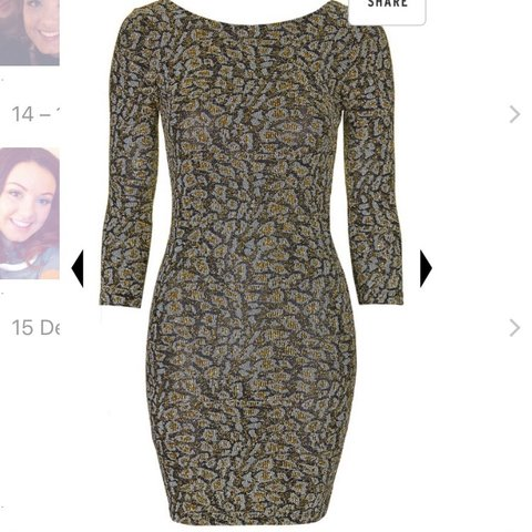 1ef04110 Size 12 glittery topshop dress. Bodycon dress stretchy are - Depop