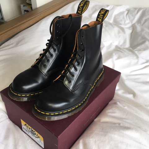 6cd52698d18 @ewhitelaw. last year. Leicester, United Kingdom. Dr Martens Made In England /Vintage 1460 8 Eyelet boot.