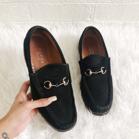 2cf4b3e5748 FREE SHIPPING!! Women s GUCCI black suede horsebit loafers a - Depop