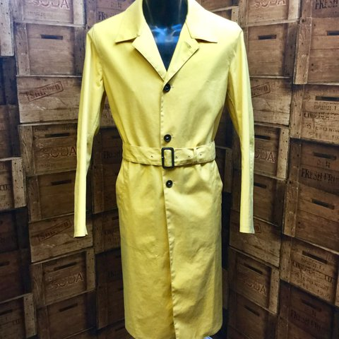 6763549bd @encoreclothingagency. last year. Warwick, United Kingdom. PRADA, this is a  smart looking waterproof men's trench coat in a mustard yellow ...