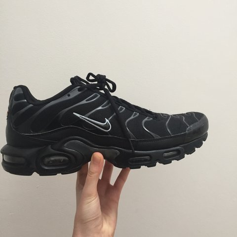 76aa883f8134 RESERVED Nike TNs all Black size UK 9.5. Great condition. me - Depop