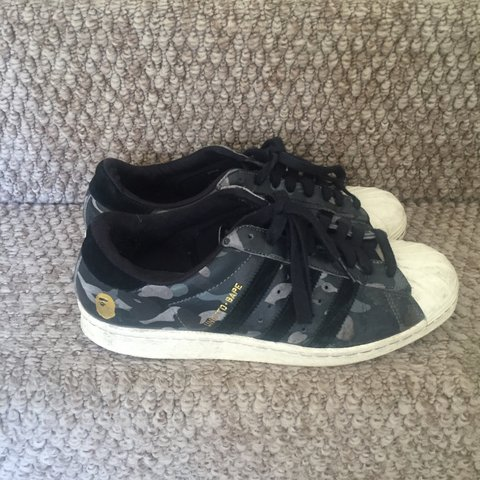 ff490a45d38783 New Price drop! Adidas original x a bathing ape x undefeated - Depop