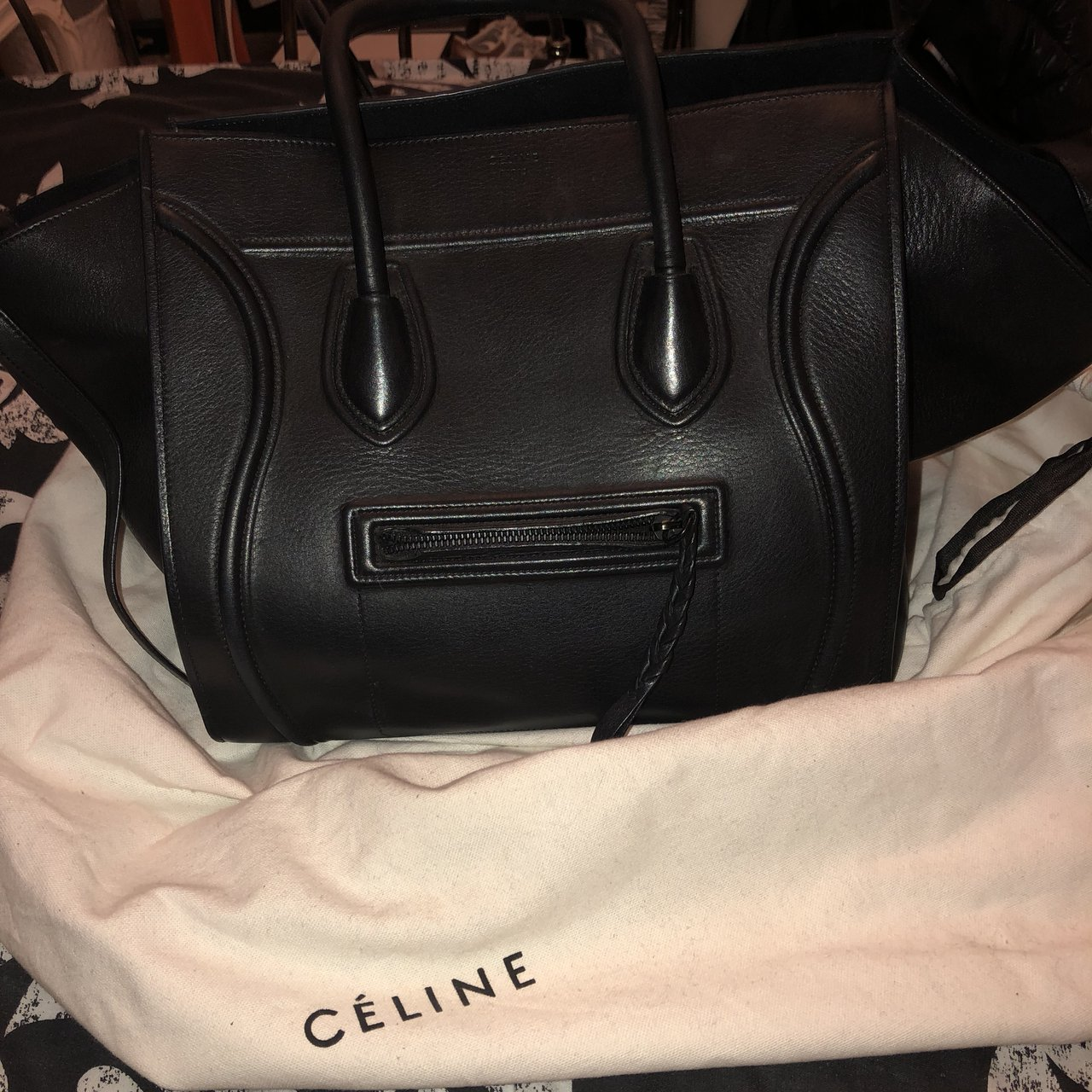 Thinking of selling my Celine phantom bag. Large black bag a - Depop a8f54ad385922