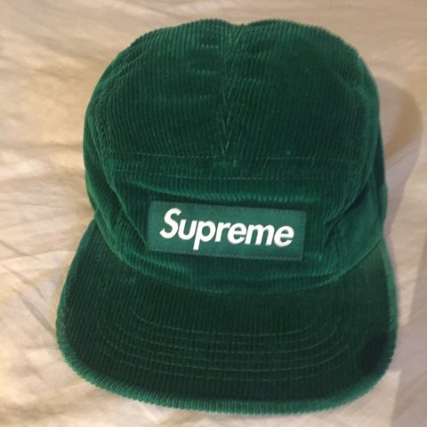 6258586e73653 Supreme fall winter 2012 camp cap corduroy (worn less then - Depop