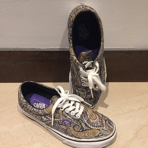 f5e1e59743b43c Vans Era x Liberty (Grey Paisley edition). Super LIMITED and - Depop