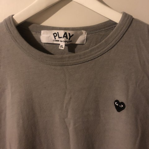 afaf1f89a @rygavin. 6 months ago. Watlington, United Kingdom. Comme Des Garçons CDG  Play tee. Supreme condition, hardly worn. Size XL but fits more M/L Bape ...
