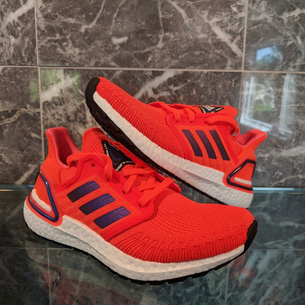 Adidas Ultraboost 20 ISS US NATIONAL LAB Solar Red...