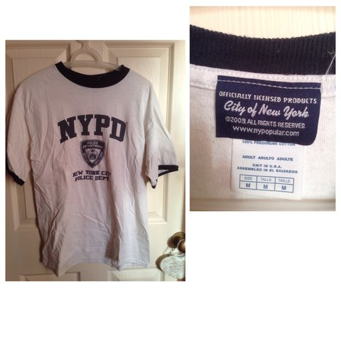 2d145e0e3 Official New York Police Department t-shirt - Depop