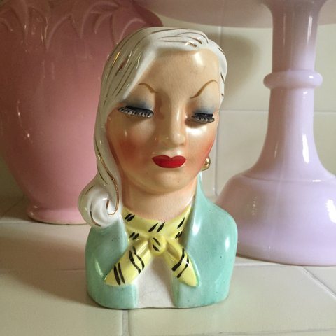 Vintage 1950s Head Vase From Ditas Collection Dita Uses A Depop