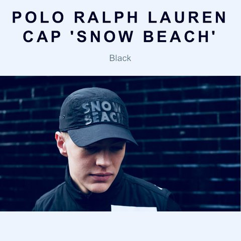 678335ba12f ⚫ ⚪ Polo Ralph Lauren Cap  Snow Beach  ⚫ ⚪ One size. Open ...