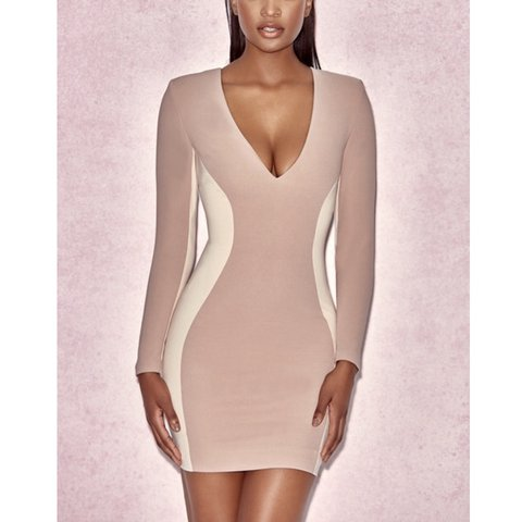 d3e2a4c6 HOUSE OF CB DRESS, felicity nude dress sold out on website! - Depop