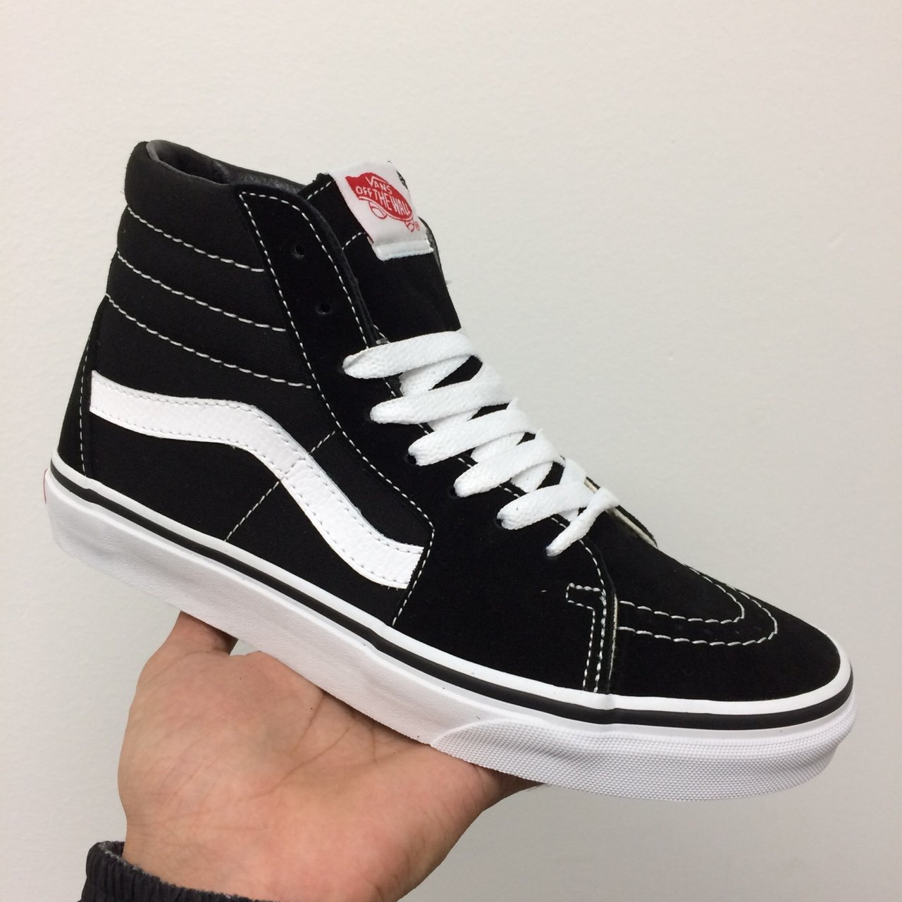 c3173cbb46 VANS SK8 HI BLACK   WHITE TRAINERS UK 8-11 sizes in sizes by - Depop
