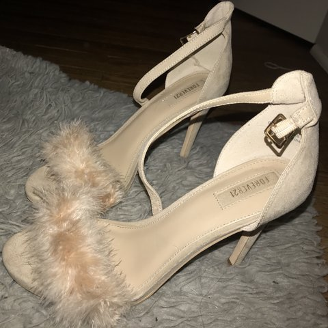 1707e01c91b adorable light pink fluffy strap baby heels! these are 4 an - Depop
