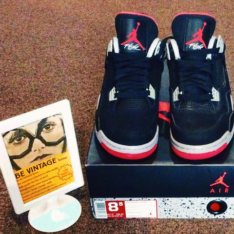 99ee5118740430 Air Jordan 4 Retro Black Cement Grey-Fire. NUOVA!!!!!! - Depop