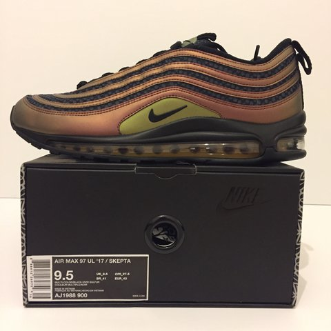 sports shoes 639a0 0bdd5  dnkicks. 2 years ago. London, UK. Brand new deadstock Nike x Skepta SK Air  Max 97 Ultra