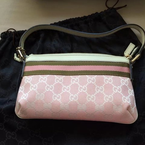 2e7d4e699 100% authentic! Brand new Gucci pink monogram Canvas bag. a - Depop