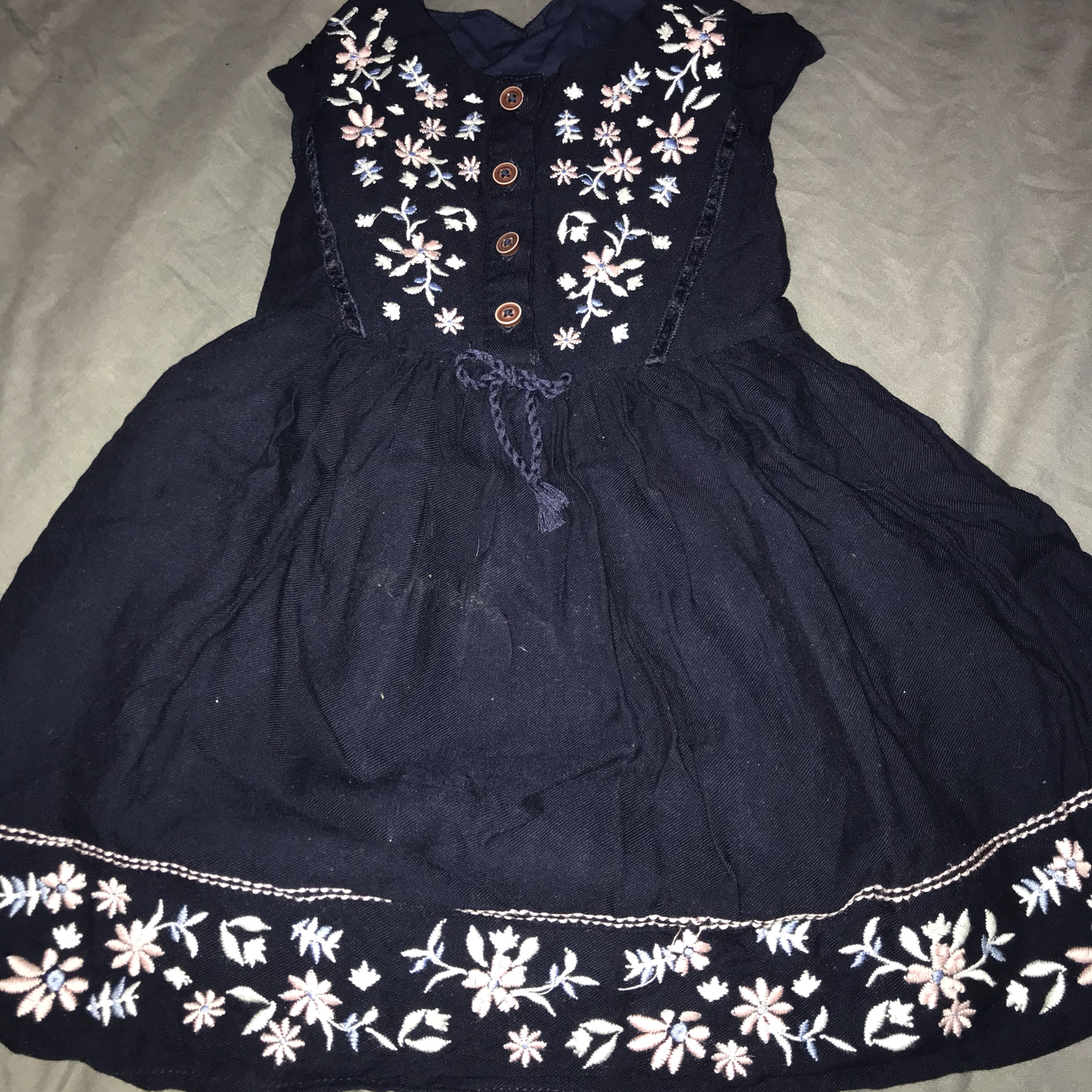 84cf9d40bef9 Matalan baby girl party dress 12-18 months in perfect - Depop