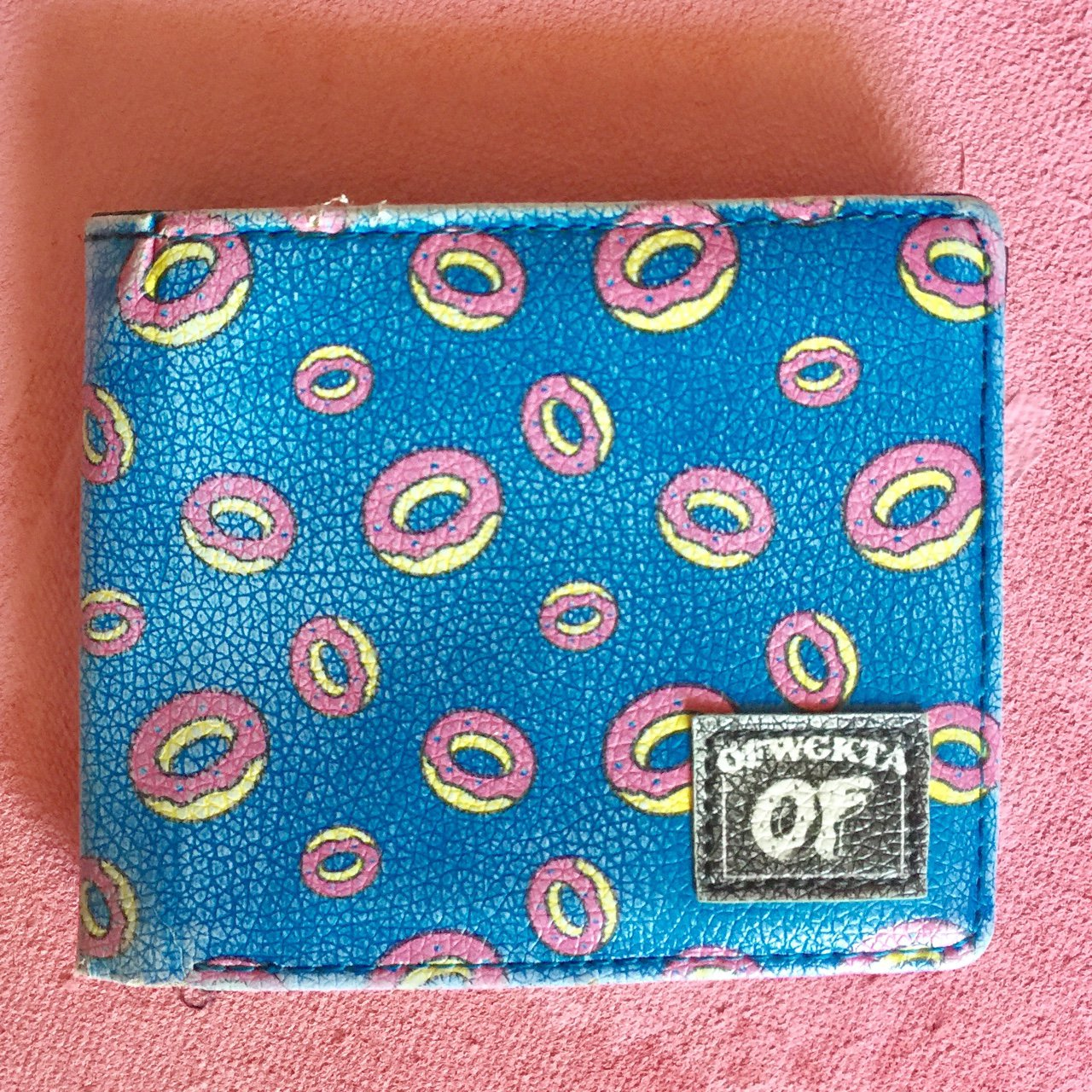 7e491ad105cc Odd future donut turquoise bifold wallet condition signs depop jpg  1280x1280 Odd future wallet
