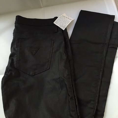 0a22132ff3664f Guess faux leather jeggings - low rise 29 - never worn - Depop