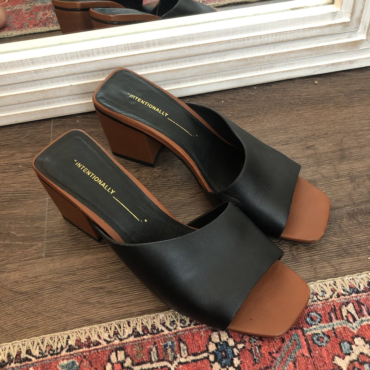 9985d958923 Intentionally blank asymmetrical slides. Some light scuffing - Depop