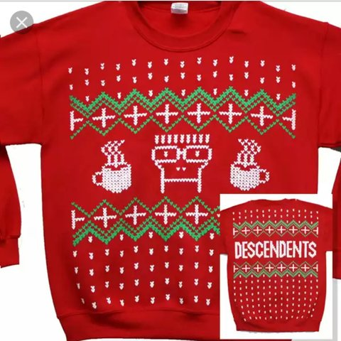 descendents christmas sweater 13 unisex fit size small in depop - Descendents Christmas Sweater