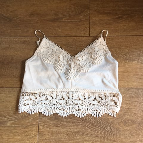 dd210f853f504 Topshop UK 8 crop top - worn once  ) really good condition. - Depop