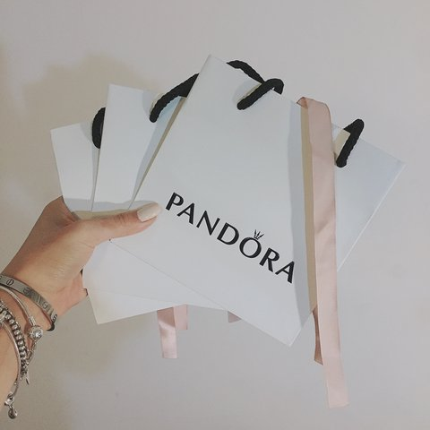 d582b46f97 Selling pandora gift bags ~ 2 available for size small and 2 - Depop