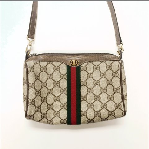09d6bd3f4d 100% authentic Vintage Gucci crossbody bag in brown monogram - Depop