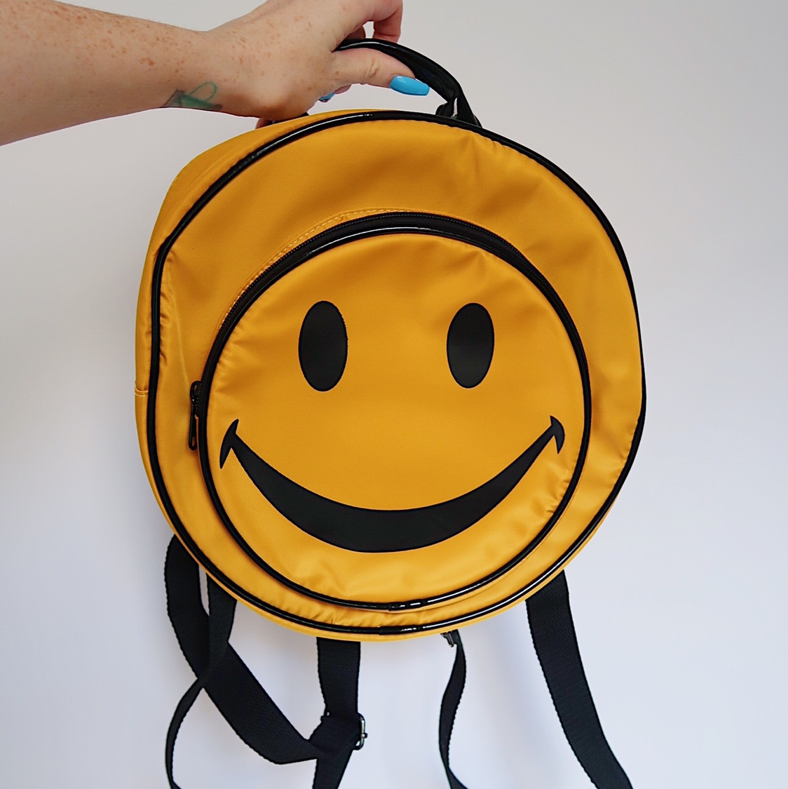 🙂 NEW Smiley face backpack 🙂 2 compartments /    - Depop