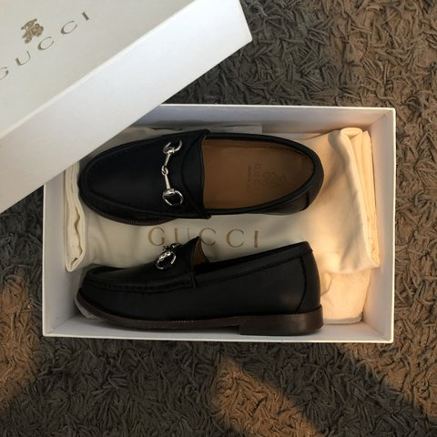 dc1239759 Kids gucci loafers size 29 hardly ever worn in really good - Depop