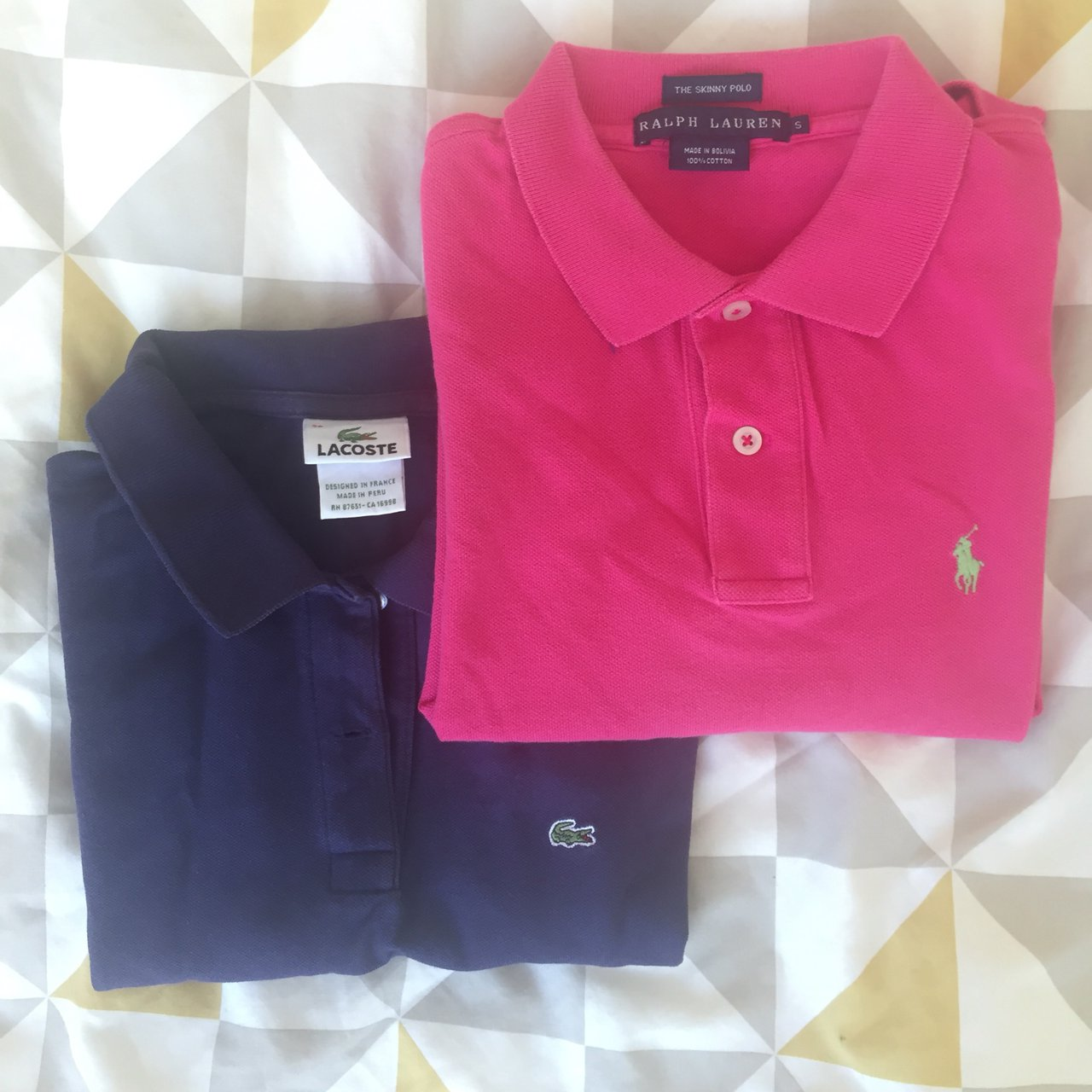 061b95a46 ... sweden lacoste and ralph lauren womens polo shirts size xs s or depop  8fd8d 92efe