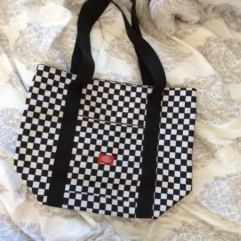 Dickies checkerboard tote bag. No pockets on the inside 81c8e4fe7d21e