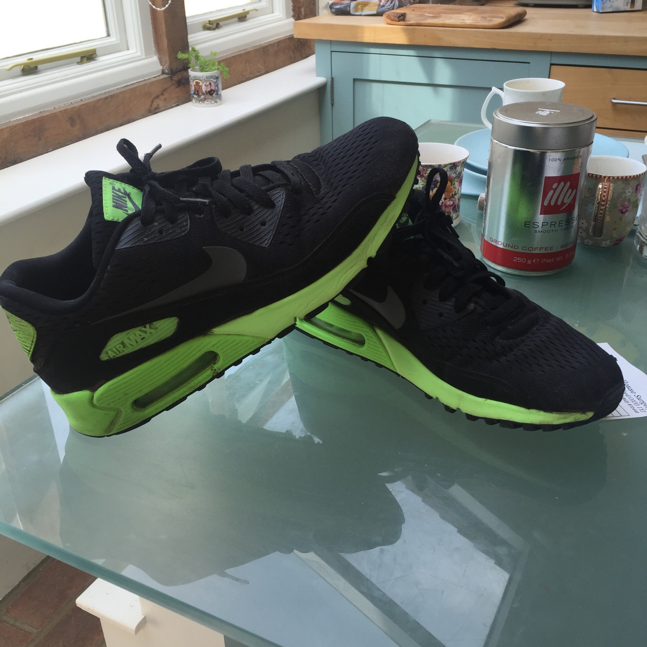 order online large discount online for sale Nike Air max 90 neon flash. Selling these for cheap.... - Depop