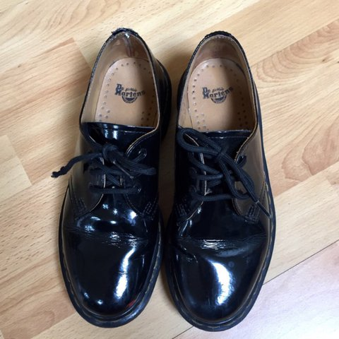 3b3523e01 @_lucymarshall_. 2 years ago. Canon's Town, United Kingdom. Dr. Martens  1461 classic black patent leather ...