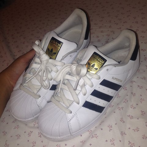 2c87ea82e3c4 Hi ladies, pair of Adidas superstars here size 5 worn a of a - Depop