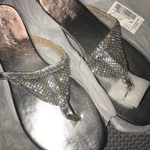 3bae46422bac Lovely sparkly   glittery next flip flops  sandals . Brand